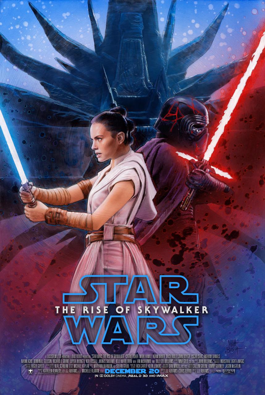 Star Wars The Rise Of Skywalker Canadian Charity Movie Poster Matt Busch